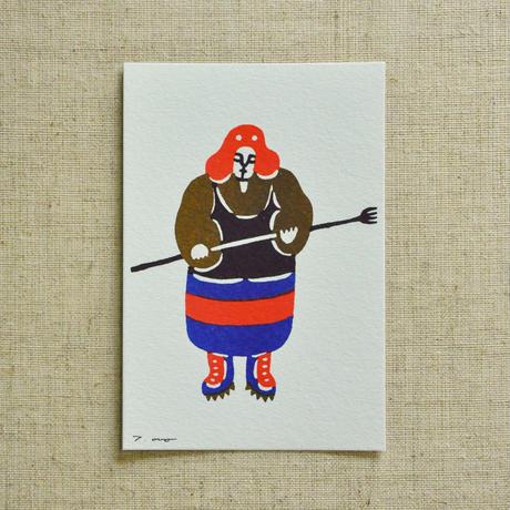 ポストカード|漁師町の男