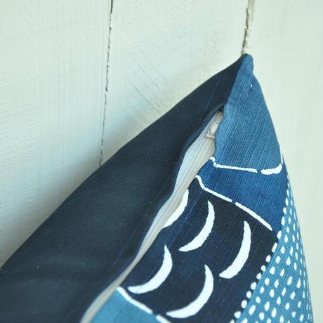 クッションカバー(クッション入り)|民布Ⅱ(多色)青