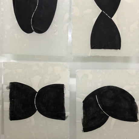 nude 3 和紙に型染 額絵