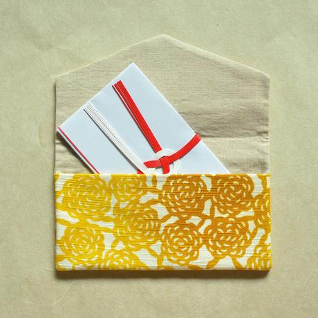 型染布ふくさ|無量花 山吹(単色)