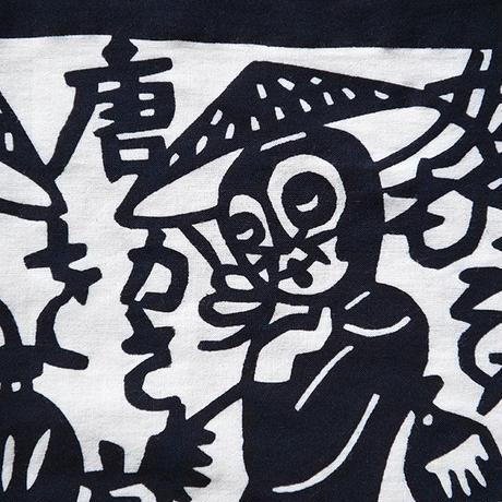 国東半島手ぬぐい|タヌキ踊り