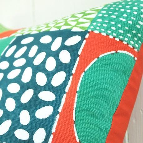 クッションカバー(クッション入り)|民布Ⅱ(多色)緑