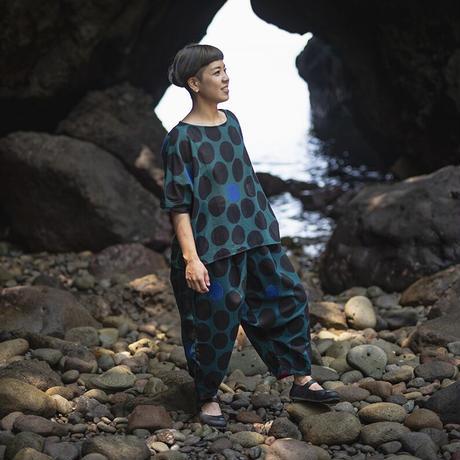 サルエルパンツ |NAMIAMRU|型染の服 2021 夏
