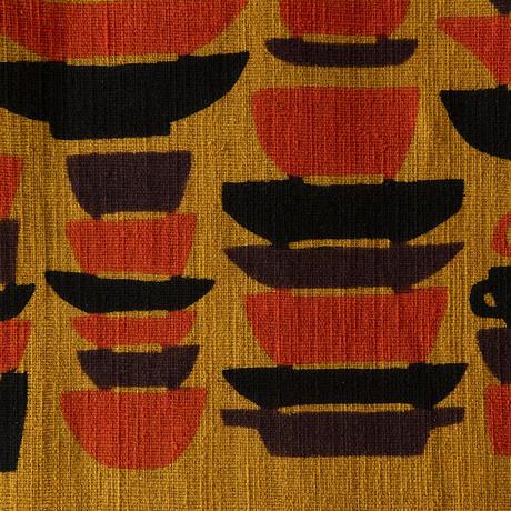 手織り綿 タペストリー|器がさね