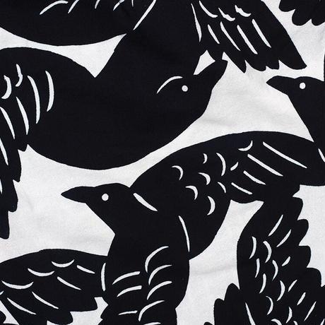 サルエルパンツ  カラスの群れ 型染の服 2021 夏