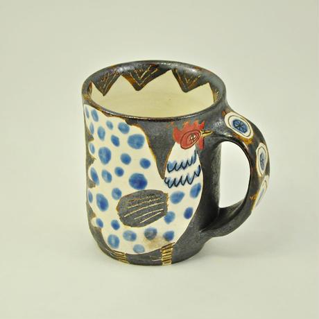 ニワトリ鉄絵マグカップ