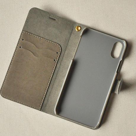 iPhoneX/XS用ケース 手帳型|ハマグリ