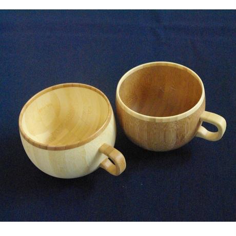 竹のコーヒーカップ(ホワイト、ブラウン)