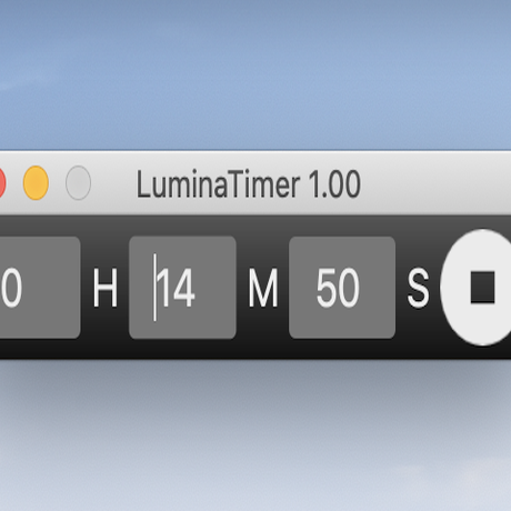 【アプリ】LuminaTimer 1.00 for MacOS