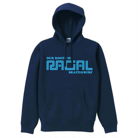 RACIAL 復刻パーカー  (ネイビー)