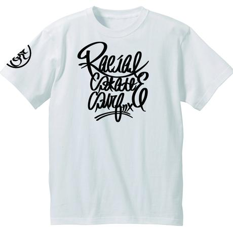 RACIAL script Tシャツ(ホワイト)