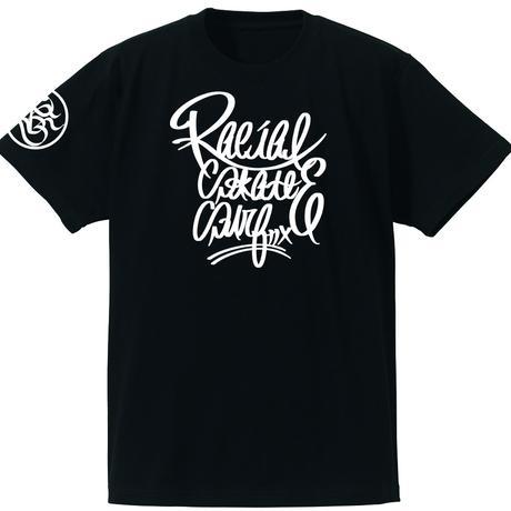 RACIAL script Tシャツ(ブラック)