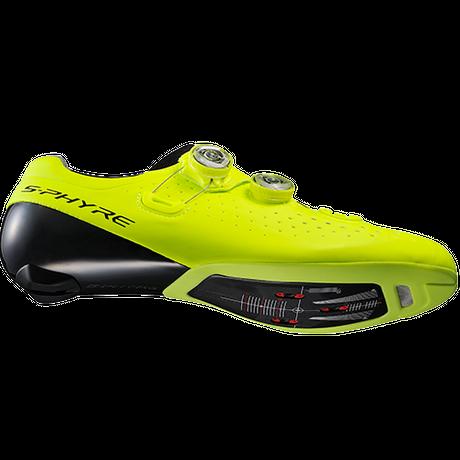 シマノ RC9 イエロー 長距離レースでのぺダリング効率の最適化。ロードコンペティションフットウェアの頂点を極める