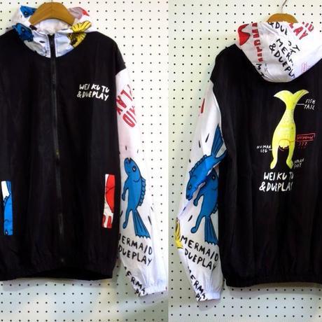サイクリングパーカー【Weiku】プリントナイロンパーカーカラフルバックプリントアウトドアダンス衣装サイクリングジャケット