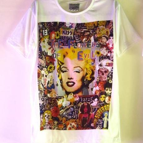 マリリン・モンロー × アンディ・ウォーホル ポップアートTシャツ【ARAINA】/白M/芸術家画家アーティスト