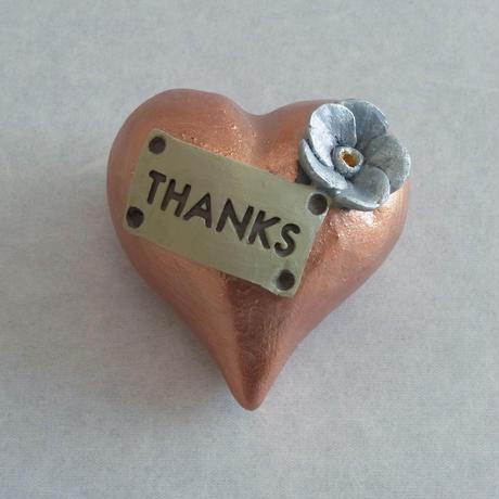 陶器製 ハートメッセージ