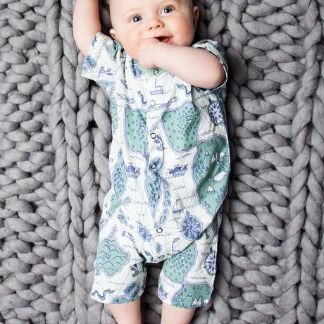 100%オーガニックコットン:Modeerskahuset Jumpsuit 半袖- Little World