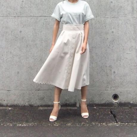 チノ素材前ボタンスカート//2colors