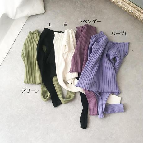 オフショルショート丈リブカットソー//5colors