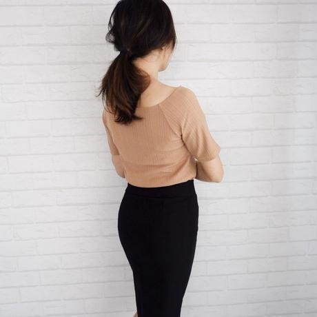 シンプルストレッチタイトスカート