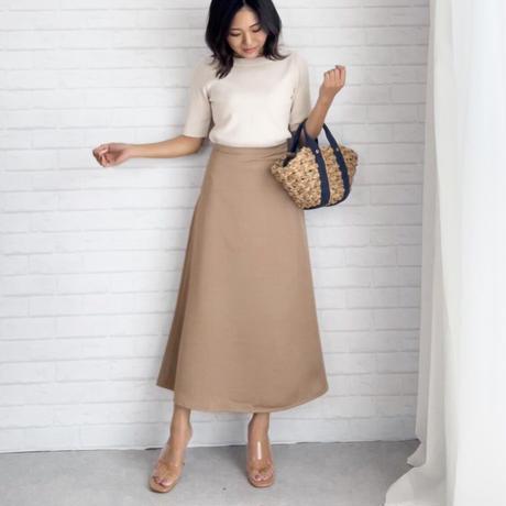シャイニーAラインスカート//3colors