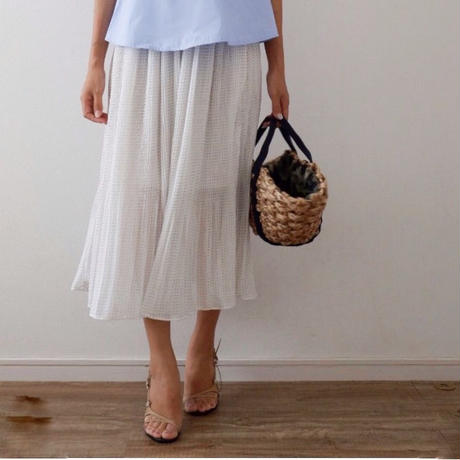 ドットプリーツスカート//2colors