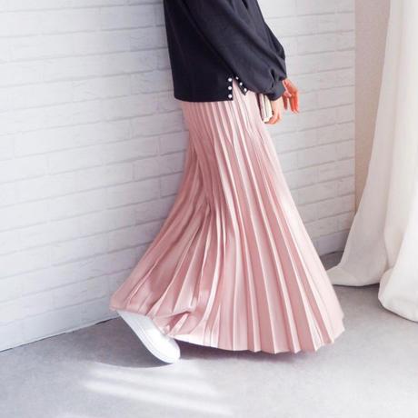 切替シャイニープリーツスカート//5colors