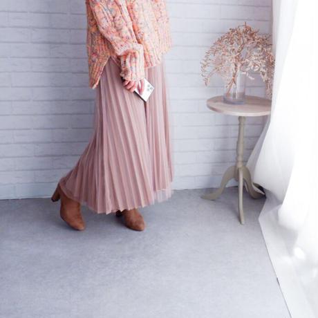プリーツチュールスカート