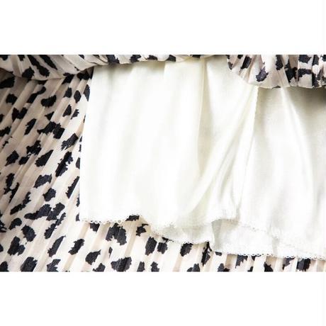 マルチアニマルプリーツスカート//2colors