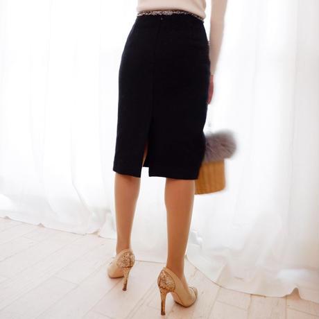 ツイードmixタイトスカート