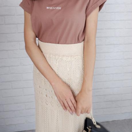 かぎ針編みマキシ丈スカート