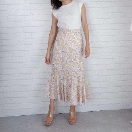 フラワーマーメイドスカート//2colors