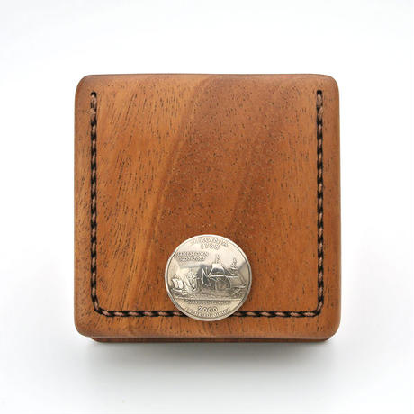 for coin case B 木と革のコインケース