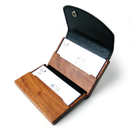card case13 木と革の名刺入れ