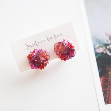 「アネモネの花束」イヤリング