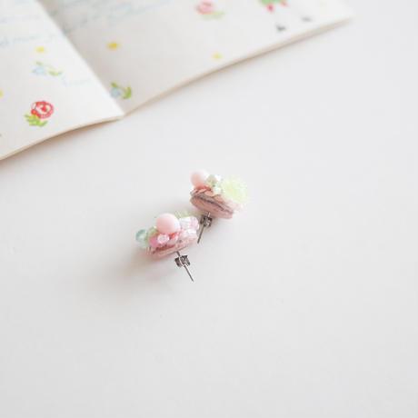 「桃と若葉」ピアス