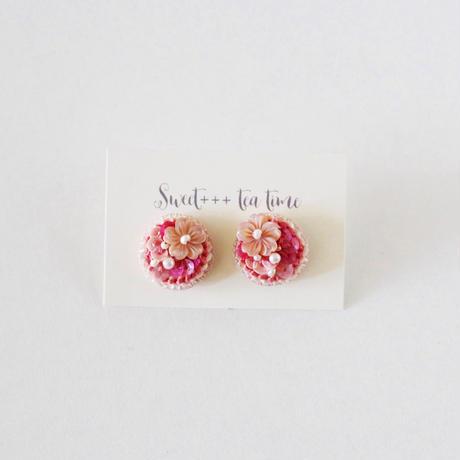 「桜と雪のころ」ピアス