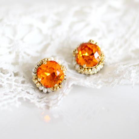 「宝石チョコレート(orange)」ピアス
