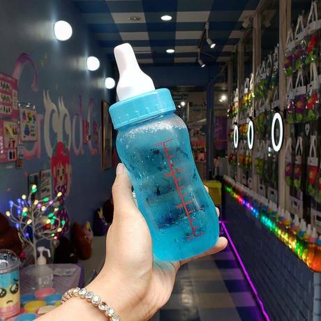 哺乳瓶ソーダ作成キッド(ブルー)Sweet XOロゴステッカー付き