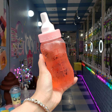 哺乳瓶ソーダ作成キッド(ピンク)Sweet XOロゴステッカー付き
