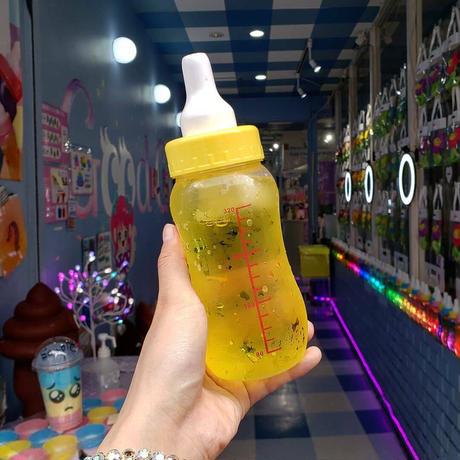 【追跡番号有】哺乳瓶ソーダ作成キッド(イエロー)Sweet XOロゴステッカー付き【レターパックプラス_ヤマト宅急便】