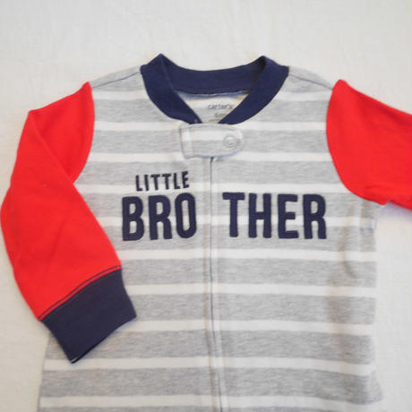 【carter's】LITTLE BROTHER cotton rompers