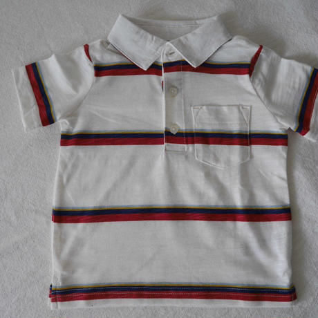 【carter's】 Stripe  Red&White  Polo Tshirt