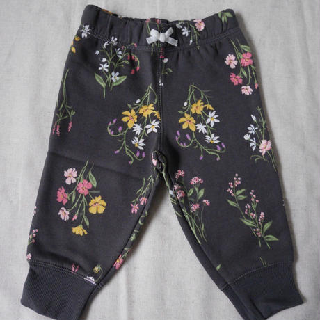 【carter's】Girl's Flower Sweat Pants