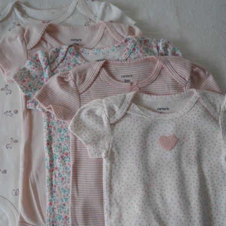 【carter's】5-pack  Babygirl  Sleep  Bodysuit