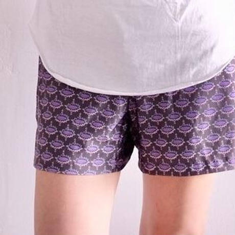 am  maaki  short  pants  purple  レディース