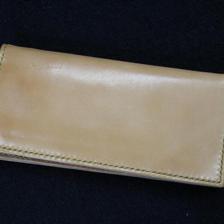 ヌメ革 二つ折り長財布 手縫いハンドメイド