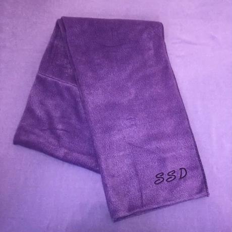 SSD刺繍フリースマフラー/パープル