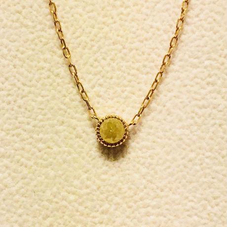 イエローダイヤモンド プチネックレス 18k