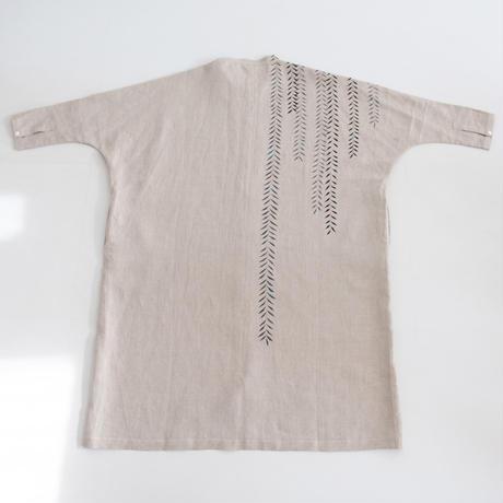 スタンドカラーシャツドレス 柳